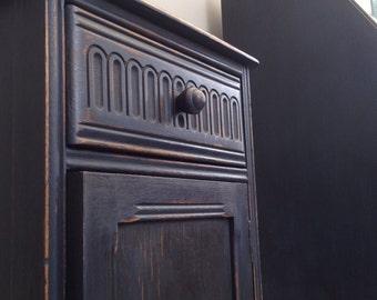 Vintage Cabinet in Navy Blue Cupboard Drawer