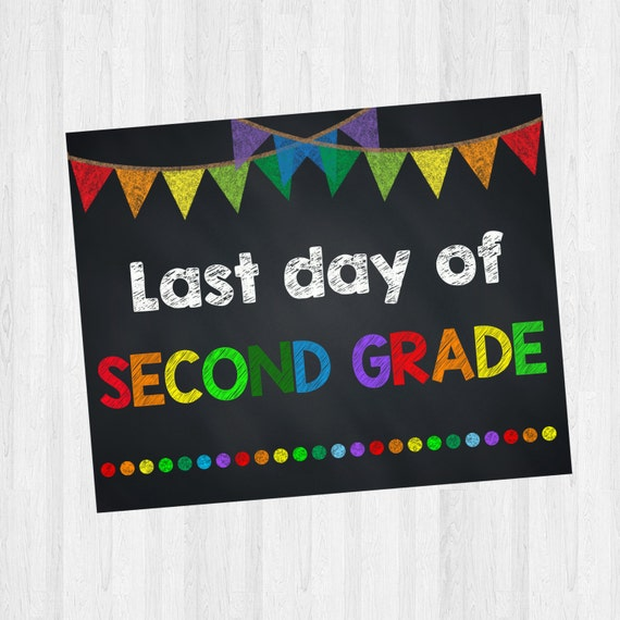 This is an image of Clean Last Day of 2nd Grade Printable