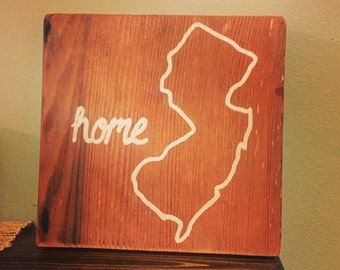 "NJ ""Home"" Sign - custom"