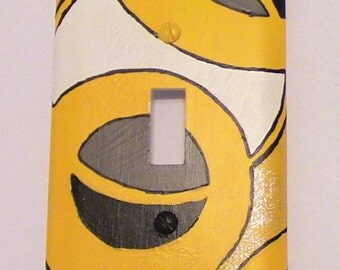 Yellow Circle Light Switch Cover