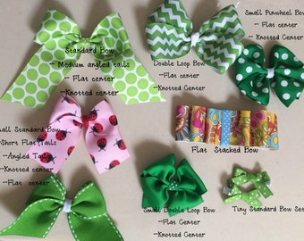Buildable Grosgrain Hairbows- Different styles!