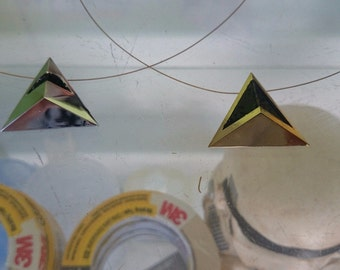 Pair of Collar pyramid Daft punk