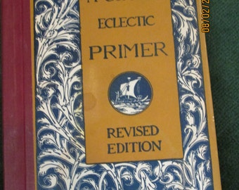 McGuffys Eclectic Primer - Vintage book -