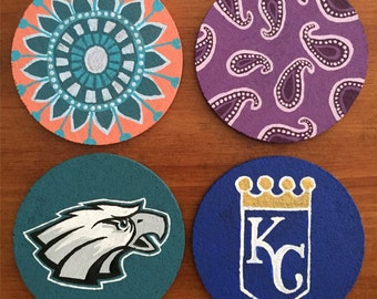 custom 4 pc. coaster set