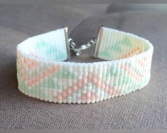 Bracelet beads woven Miyuki