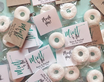 Mint to Be Wedding Favors / Custom Mint Favors / White / Mint (30)