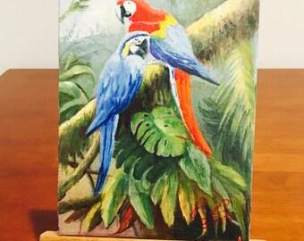 "Loros II - 8x6"" oil on canvas"