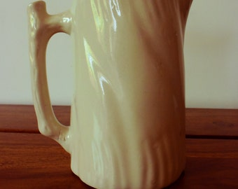 water jug/pitcher off white earthenware