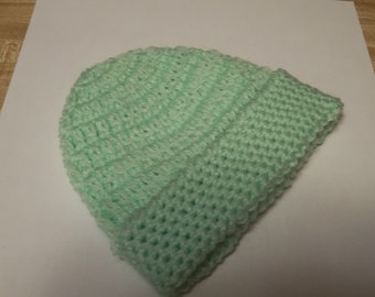 Green- Preemie Baby hat