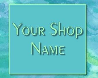 Blue Marble Banner, Shop Banner Set, Banner Design, Custom Banner, Shop Banner, Cover Photo, Premade Banner, Graphic Design,
