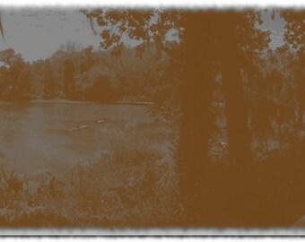 5x5 Lake Print