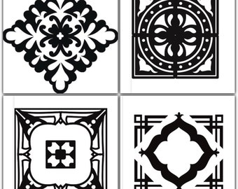 Moroccan Inspired Tile Stencils (4 pk)