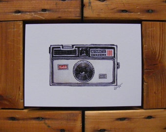 Kodak Instamatic 100 Illustration | A5 Print