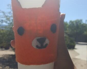 Felt Fox Coffee Cozy