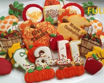 Fall Thanksgiving cookie set