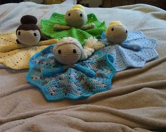Hand Crocheted Princess Lovey's