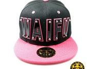 Waifu Acrylic Letter Snapback Hat
