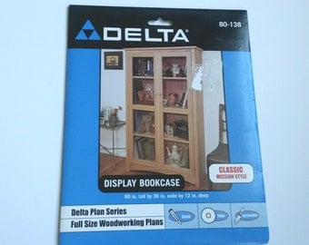 Delta display bookcase case  plans, mission style bookcase woodworking plans, DIY woodwork