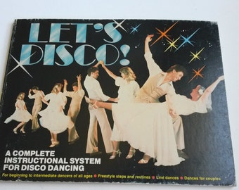 Disco dancing  book, disco lessons book, 1978 disco book