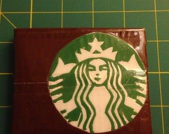 Bi-Fold Duct Tape Wallet w/ Starbucks Logo