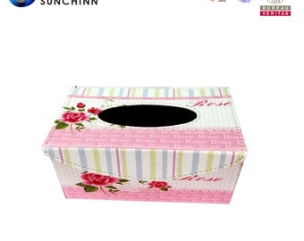 Popular Canvas Wooden Tissue Box Cover