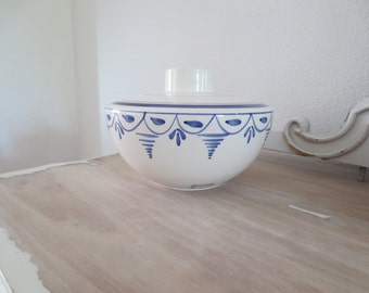 Ceramic Blue and White Candle Holder