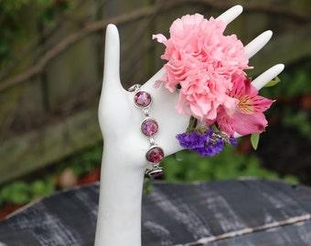 Memory Flower Bezel Bracelet