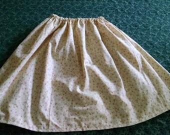 Pink Floral Short Skirt
