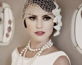 Flapper Girl Pearl Beaded Necklace