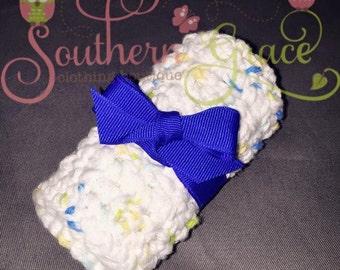 Set of 3 crochet cotton wash cloths