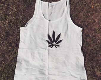 420 weed leaf basketball vest