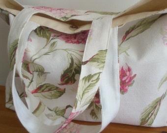 Handmade fabric beach or shopping bag