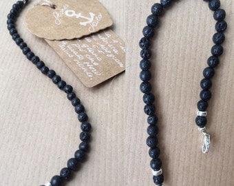 Hard Lava stone bracelet unisex
