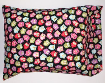 Colored Owls Pillowcase