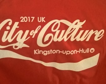 Hand-printed teeshirt for Hull 2017 City of Culture