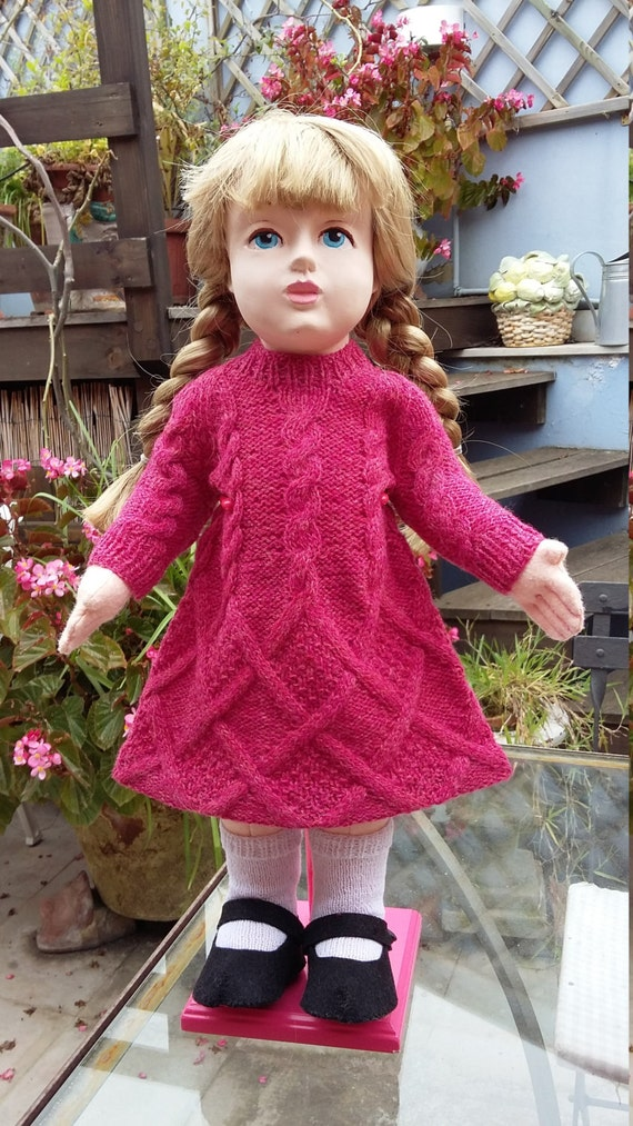Aran handknitted dress