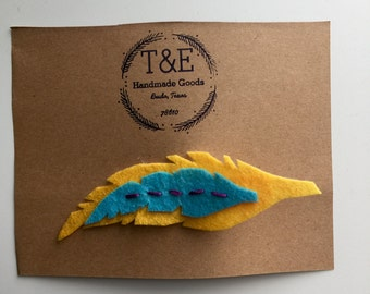 Handmade Feather Hair Clip