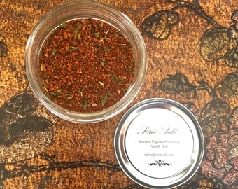 Smoked Paprika Seasoning & Rub. There isn't anything you can't use this in or on! From Salad Dressings to Pork Shoulder this is an ideal gem