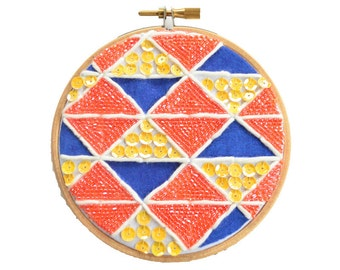 """Graphic wall decoration """"Glitter and orangeade"""" 10 cm"""