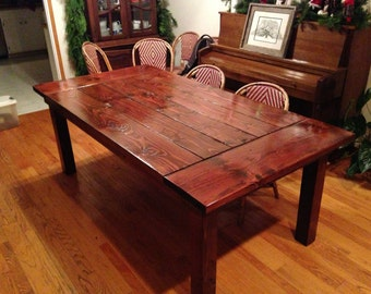 Rustic Picnic Style Kitchen Table