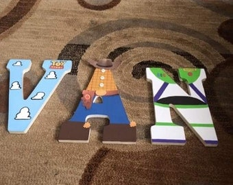 Toy Story Painted Wooden Letters