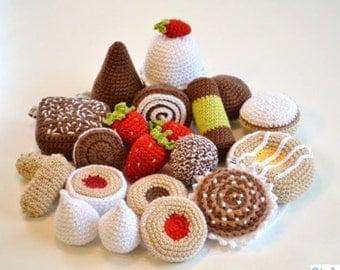 Crochet Play Food, Cookies