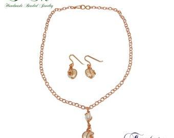 Fantasy Copper Necklace & Earring Set