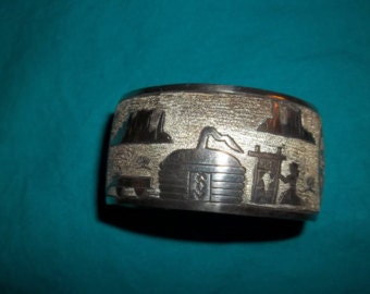 Signed Sterling Cuff