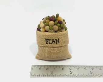 Beans and Cereal in Sack Food Fridge Magnet Refrigerator Kitchen Decor Memo Note Gift Souvenir.