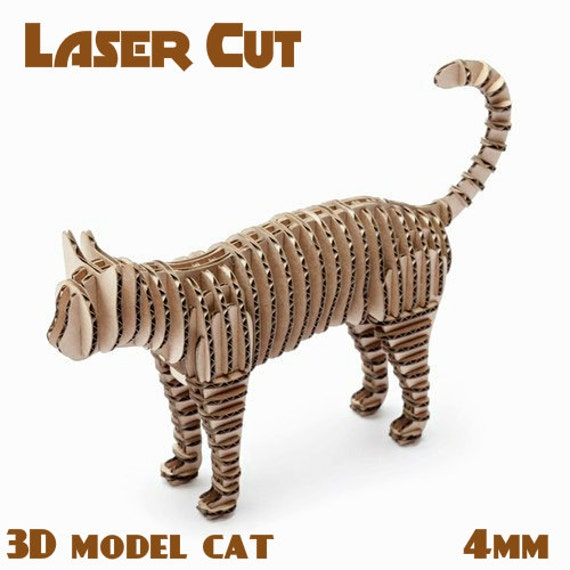 Cat Toy Decor Cnc Laser Cutting File Template Sliced