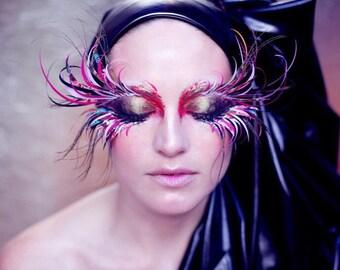 Bespoke custom made festival eyelashes, face gems, Halloween, Burning man, Mermaid, embelishments
