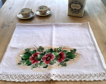 Hand painted tea towels, kitchen towels, kitchen gifts, Brazilian decor