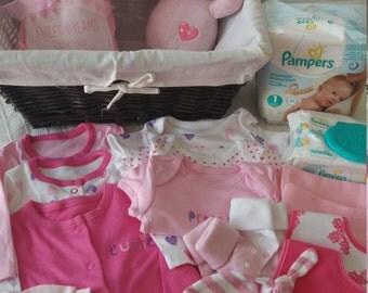 Beautiful girls bright pink starter set.