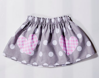 Skirt with white dots